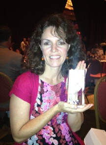 Lisa with our National ADDY Award!